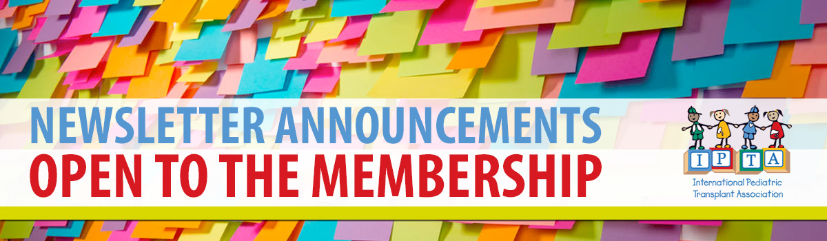 Newsletter Announcements – Open to the Membership